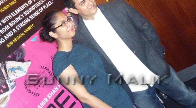 Spotted: Aamir Khan, Karan Johar, Kiran Rao and Gurinder Chadha at the Peepli[LIVE] London Premiere (2010)