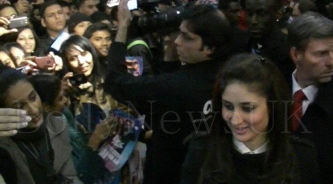 Imran and Kareena meet fans in London