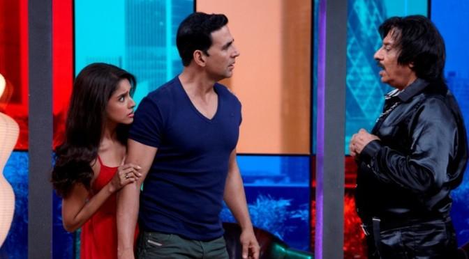 Akshay Kumar and Asin make it a 'Housefull' at India vs Pakistan Cricket match