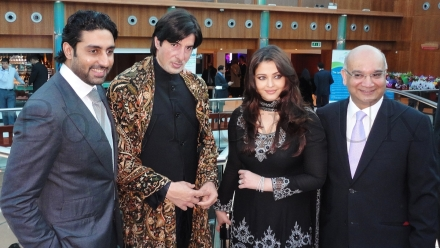 Aishwarya Rai Bachchan and Abhishek Bachchan in London