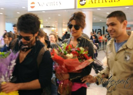 Priyanka Chopra and Shahid Kapoor spotted in London