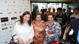 Rachel Dwyer and Mrs Pamela Yash Chopra at London Indian Film Festival