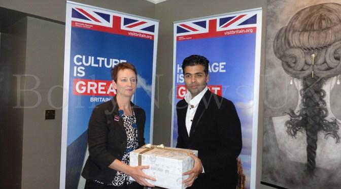 Spotted: Karan Johar at Visit Britain Press Conference