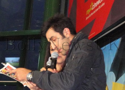 Ranbir Kapoor promotes Barfi! at Cineworld, Feltham (London)