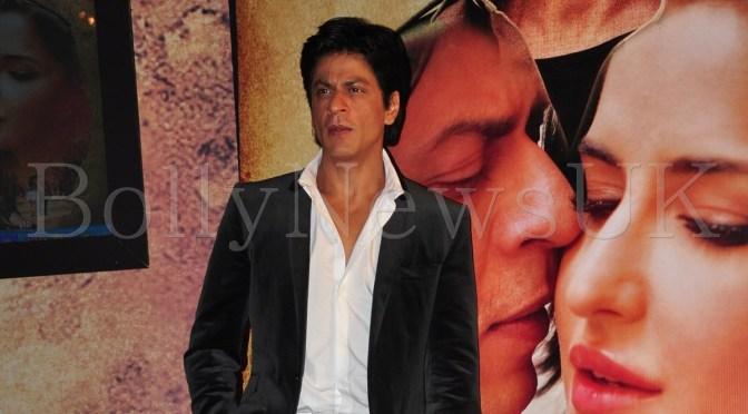 Spotted: Shah Rukh Khan at 'Jab Tak Hai Jaan' music launch