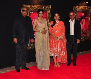 Jab Tak Hai Jaan - Premiere - Sridevi, Juhi Chawla, Boney Kapoor