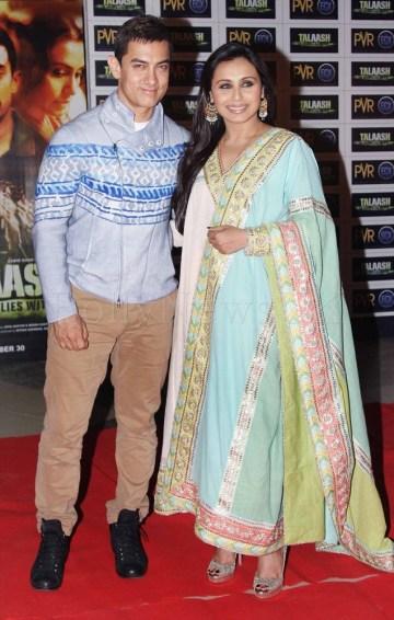 Aamir Khan, Rani  Mukherji - Talaash screening (1)