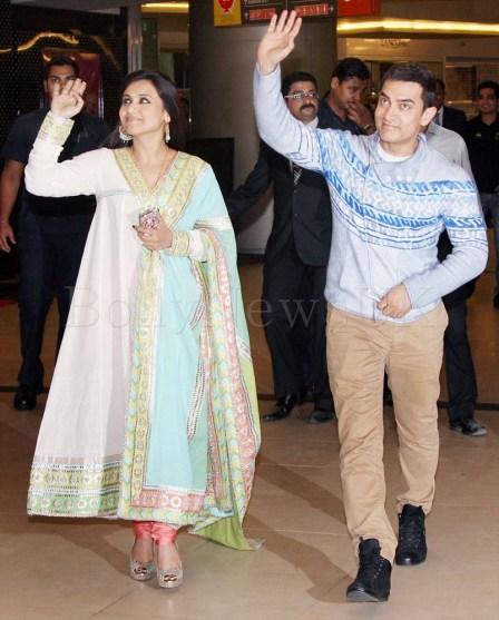 Aamir Khan, Rani  Mukherji - Talaash screening (2)