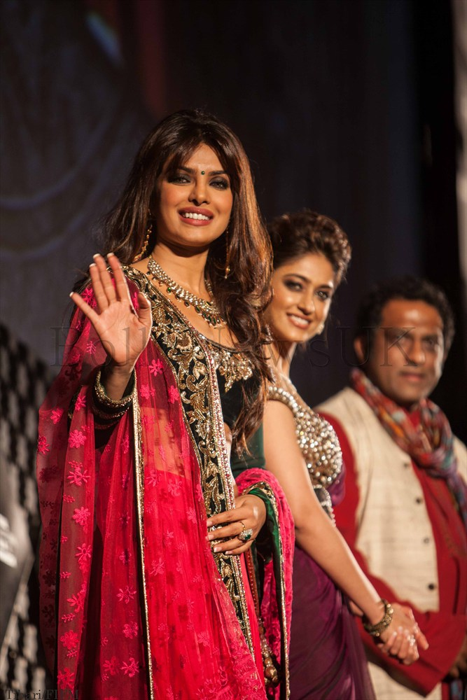 Anurag Basu, Ileana D'Cruz and Priyanka Chopra in Marrakech