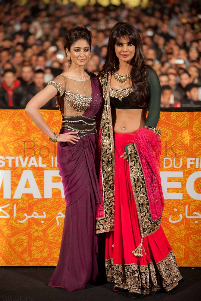 Priyanka Chopra and Ileana D'Cruz in Marrakech