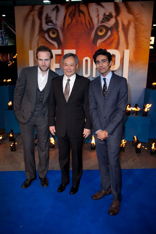 Rafe Spall , Ang Lee, Suraj Sharma - Life Of Pi Premiere London