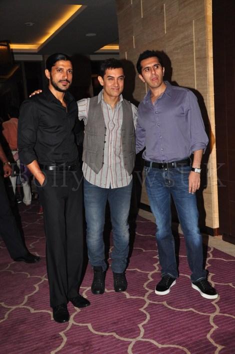 Talaash Success Party - Farhan Akhtar, Aamir Khan, Ritesh Sidhwani
