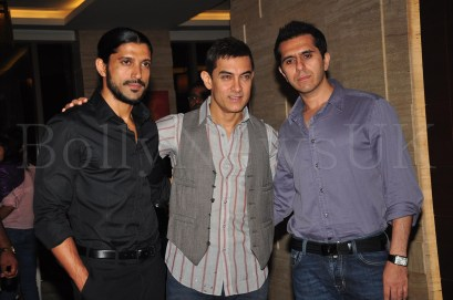 Talaash Success Party - Farhan Akhtar, Aamir Khan,Ritesh Sidhwani