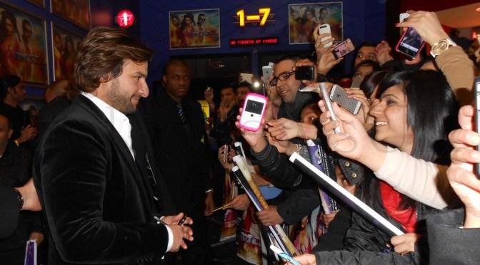Spotted: Saif Ali Khan meeting fans in London