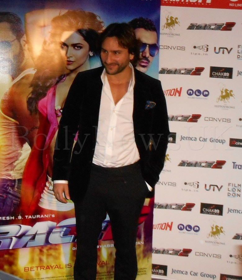 Saif Ali Khan - London - Race 2 - Photo Call
