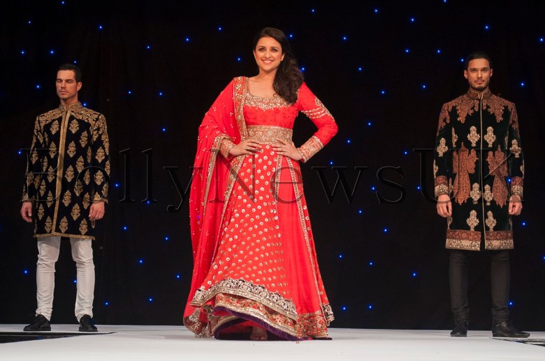 Bollywood star Parineeti Chopra at Manish Malhotra Fashion Fundraiser in London for The Angeli Foundation