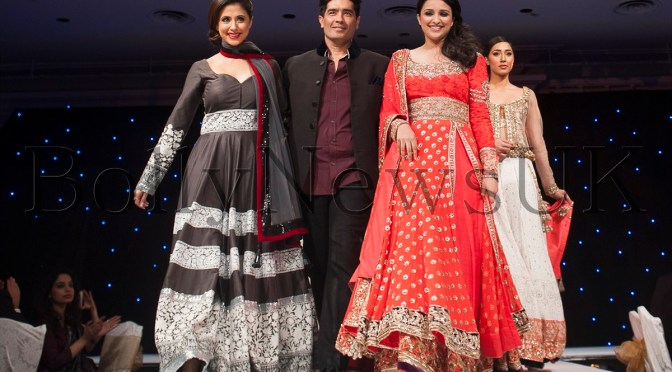 Photos: Parineeti and Urmila at Manish Malhotra's London charity show