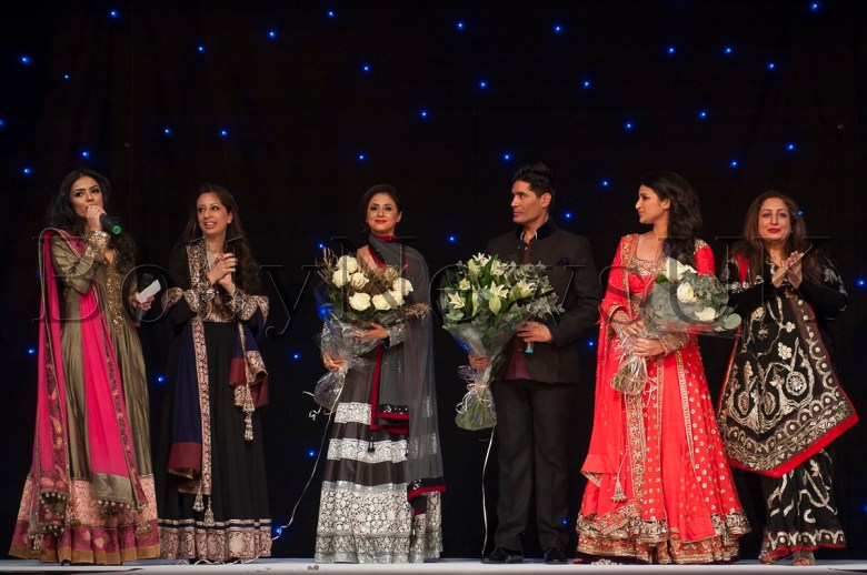 Presenter Hajra Mian, Ratika Puri Kapur, Urmila Matondkar, Manish Malhotra, Parineeti Chopra and Angeli Kapoor Puri at The Angeli Foundation Fundraiser in London