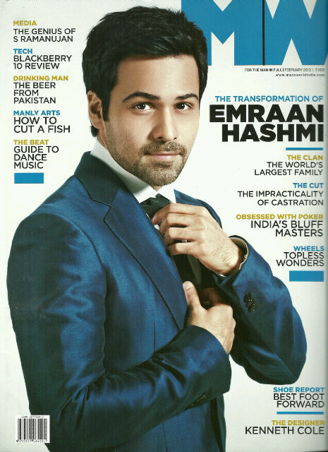 Emraan Hashmi on the cover of Mans World