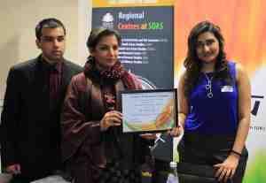 Shabana Azmi with NISU UK students