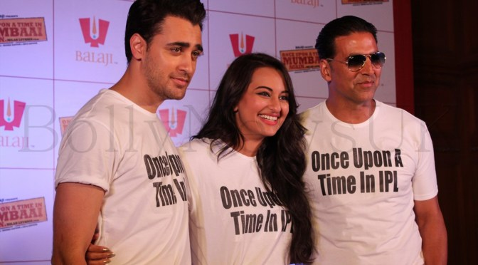 Spotted: Akshay, Sonakshi and Imran promote OUATIM 2