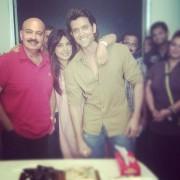 Priyanka, Rakesh and Hrithik on the set
