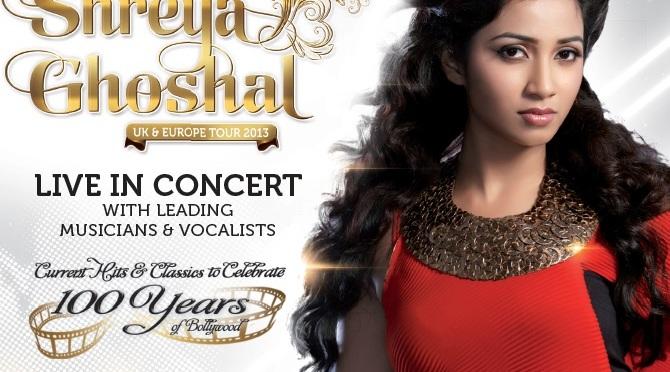 Shreya Ghoshal to tour the UK this month