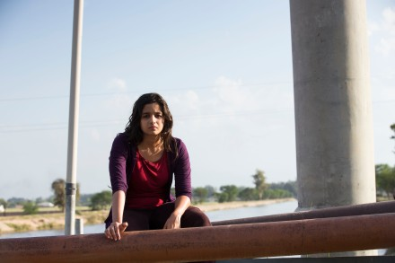 Alia Bhatt on location- shooting for Highway in Punjab,28.03.2013
