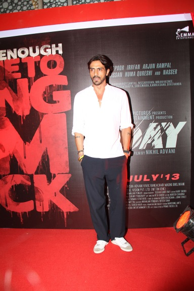 Debutant Aakash Dahiya at the First Look Poster and Theatrical Launch for D-Day