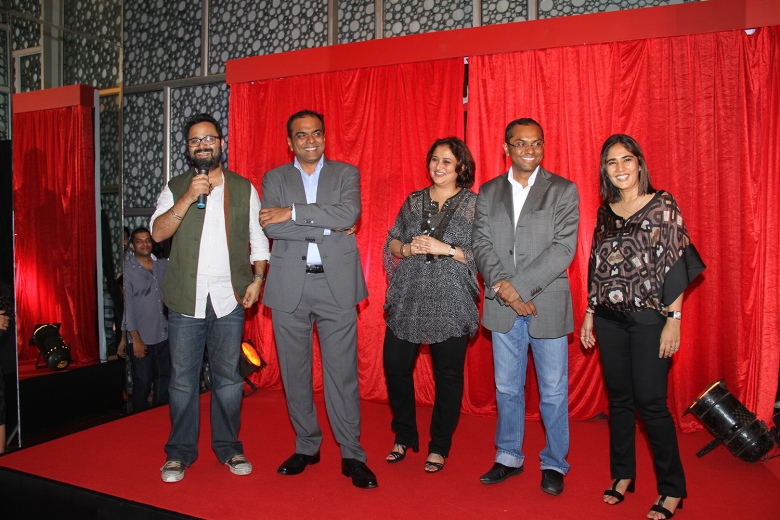 L-R Nikhil Advani, Arun Rangachari, Monisha Advani (Director Emmay Entertainment Pvt Ltd), Vivek Rangachari & Madhu Bhojwani (Director Emmay Entertainment Pvt Ltd)