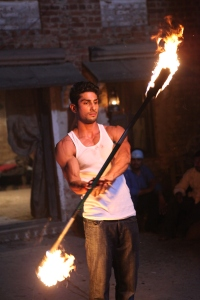 Prateik playing with fire