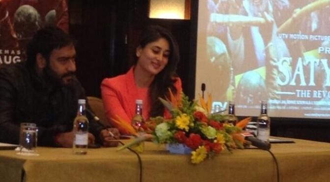 Spotted: Kareena Kapoor Khan and Ajay Devgn in London