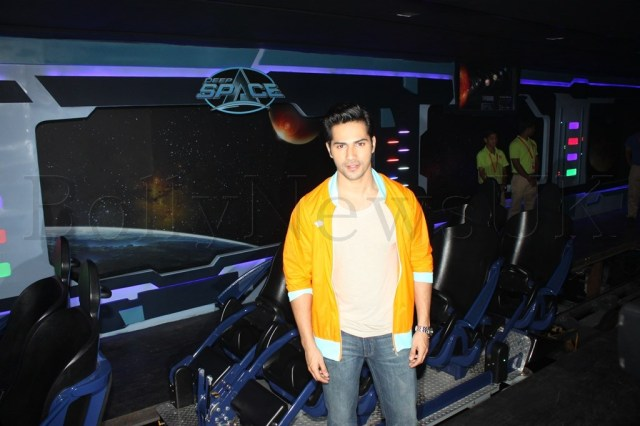 Varun Dhawan on the Deep Space Coaster
