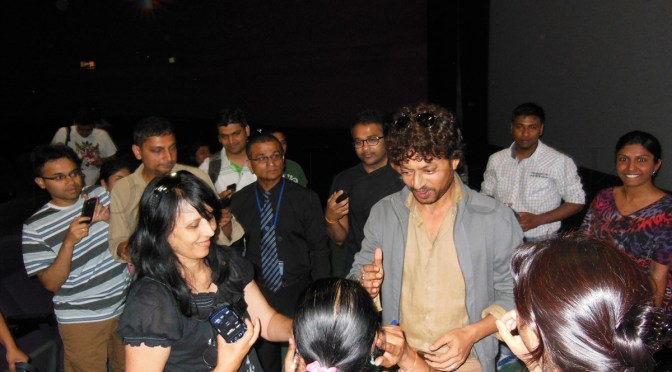 Spotted: Irrfan Khan at Cineworld Feltham (London)