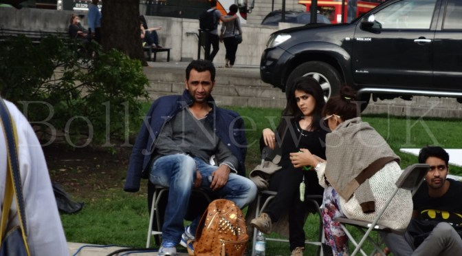 Spotted: Genelia Deshmukh on the sets of 'Humshakals' in London