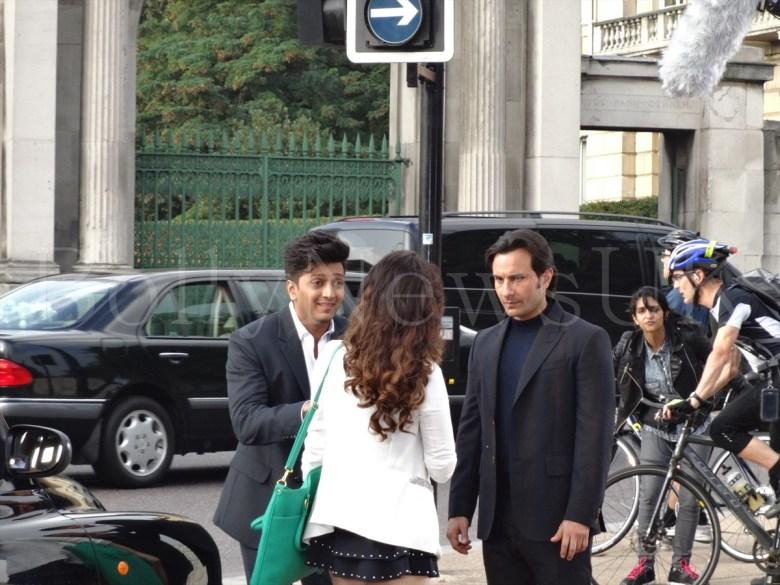 Saif Ali Khan, Riteish Deshmukh, Tamanaah in London , Humshakals (4)
