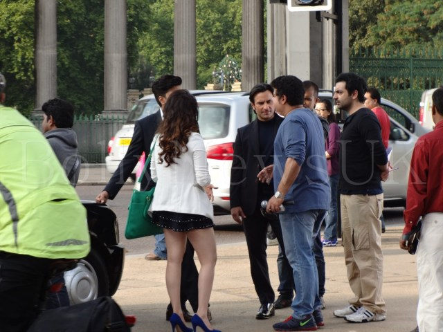 Saif Ali Khan, Riteish Deshmukh, Tamanaah in London , Humshakals (5)