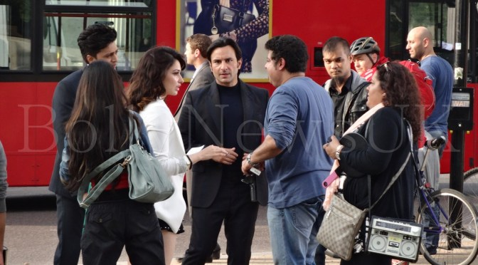 Spotted: Saif Ali Khan, Riteish Deshmukh and  Tamannaah in London