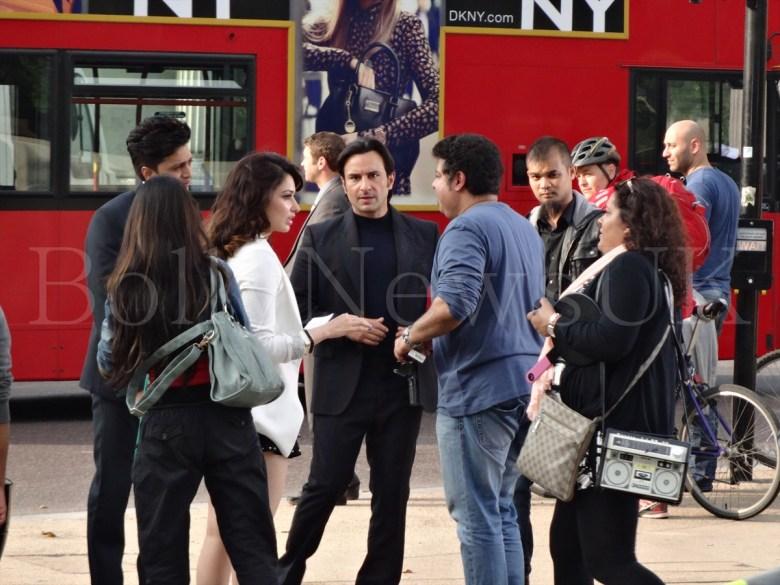 Saif Ali Khan, Riteish Deshmukh, Tamanaah in London , Humshakals (6)