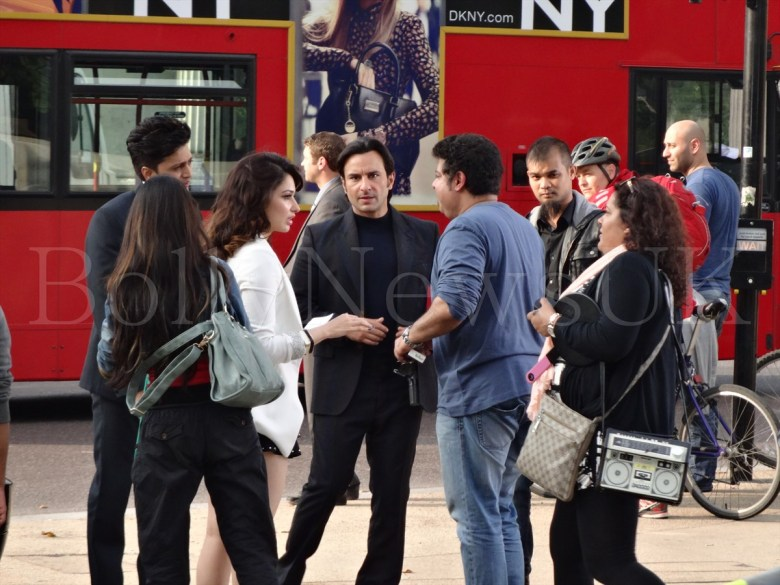 Saif Ali Khan, Riteish Deshmukh, Tamanaah in London , Humshakals (6)