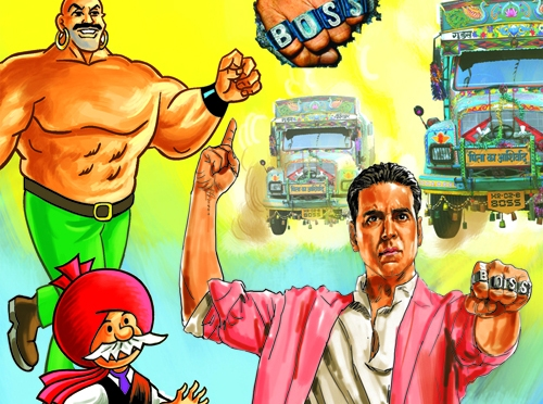 'Boss' ties up with classic comic book 'Chacha Chaudhary'