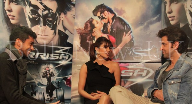 Priyanka Chopra and Hrithik Roshan in London for Krrish 3 with Sunny Malik (4)