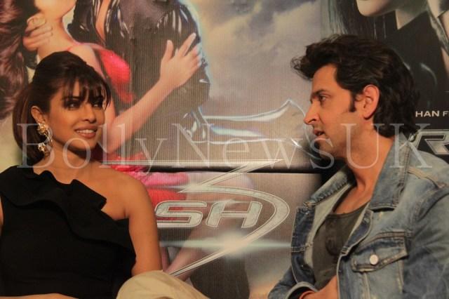 Priyanka Chopra and Hrithik Roshan in London for Krrish 3 with Sunny Malik (5)