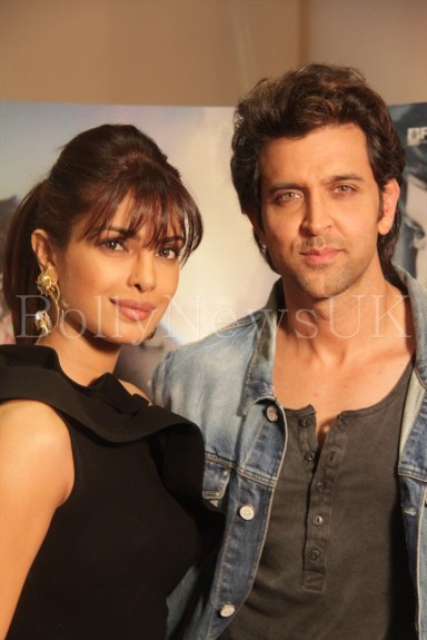 Priyanka Chopra and Hrithik Roshan in London for Krrish 3 with Sunny Malik (7)