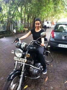 Shraddha Kapoor on a bike