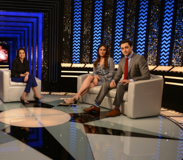 Imran Khan and Kareena Kapoor on The Front Row