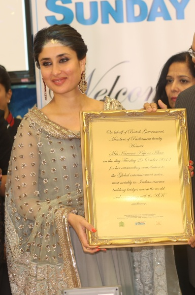 Kareena being honored