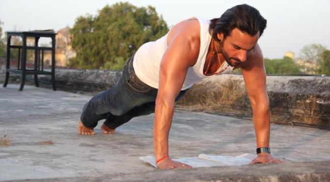 Saif Ali Khan turns Lucknow Roads into a Gym