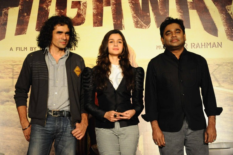 Imtiaz Ali,Alia Bhatt &A R Rahman @ the 'Higway'event-pix