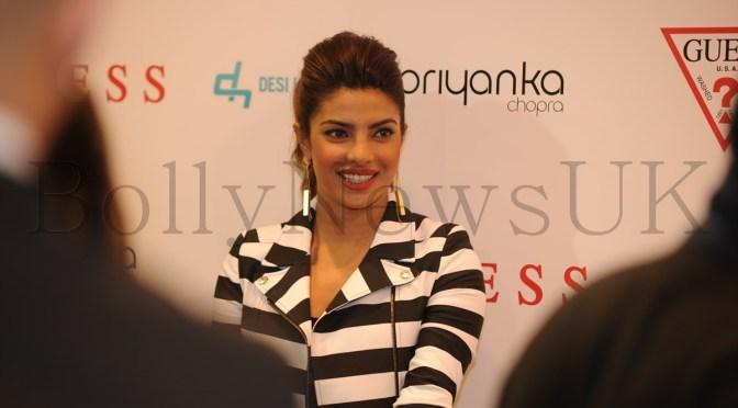 Priyanka Chopra at Guess store in London